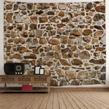 Stones Wall Pattern Tapestry Hanging Decoration - BROWN W59 INCH * L51 INCH