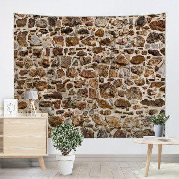 Stones Wall Pattern Tapestry Hanging Decoration - BROWN W79 INCH * L59 INCH