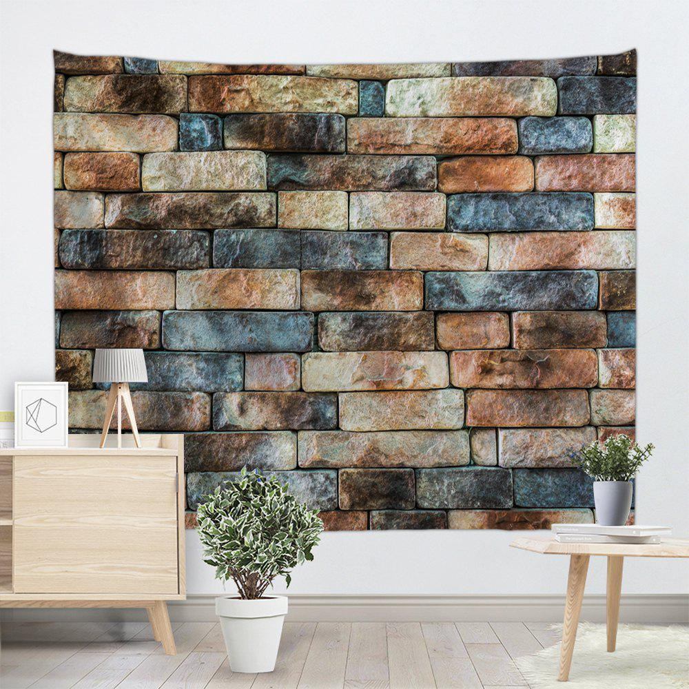 Retro Brick Wall Pattern Tapestry Wall Decor - COLORMIX W59 INCH * L59 INCH