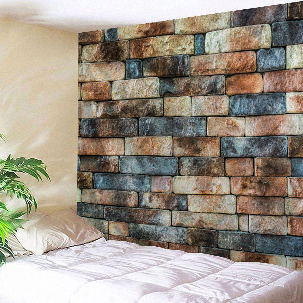 Retro Brick Wall Pattern Tapestry Wall Decor - COLORMIX W91 INCH * L71 INCH