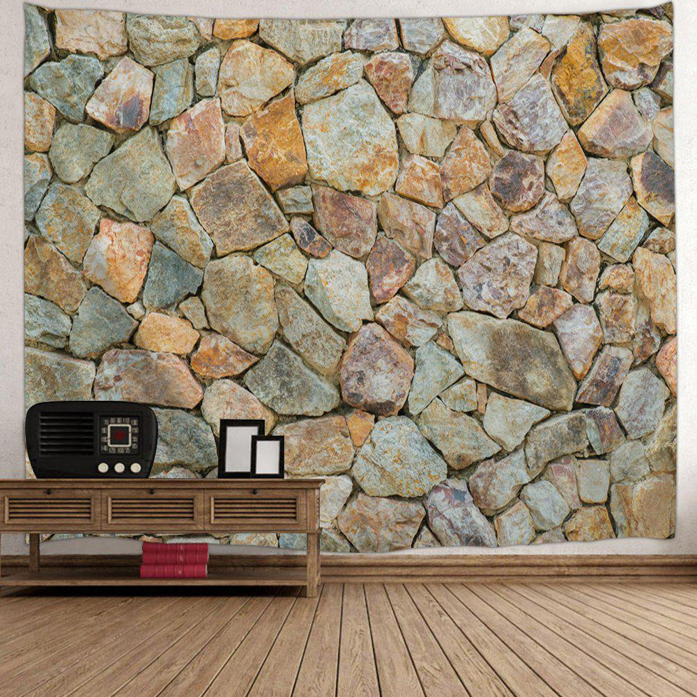 Stones Wall Pattern Tapestry Hanging Art Decoration - LIGHT BROWN W59 INCH * L51 INCH