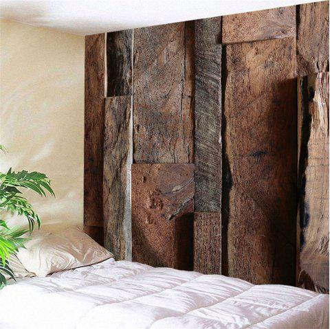 Wood Bedroom Decor Wall Tapestry - WOOD COLOR W79 INCH * L59 INCH
