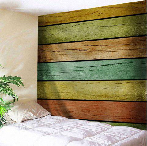 Wall Decoration Wood Flooring Print Tapestry - COLORFUL W59 INCH * L59 INCH