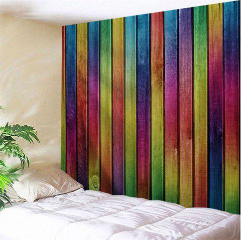 Wall Decoration Rainbow Woodgrain Pattern Tapestry - COLORFUL W91 INCH * L71 INCH