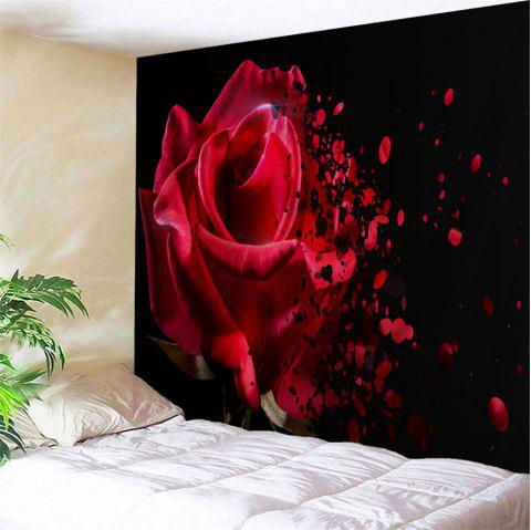 Wall Decoration Rose Flower Pattern Tapestry - COLORMIX W79 INCH * L71 INCH