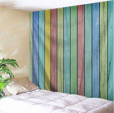 Colorful Wooden Board Print Tapestry Wall Hanging Art - COLORFUL W79 INCH * L71 INCH