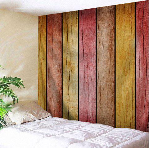 Rainbow Wood Board Printed Wall Decor Hanging Tapestry - COLORMIX W79 INCH * L59 INCH