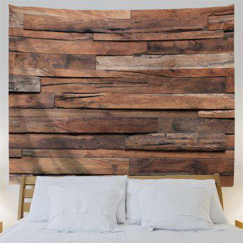 Wood Plank Printed Bedroom Decor Tapestry - WOOD COLOR W91 INCH * L71 INCH