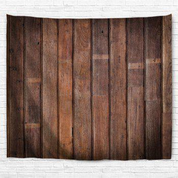 Vintage Wood Printed Wall Art Tapestry - BROWN W79 INCH * L59 INCH