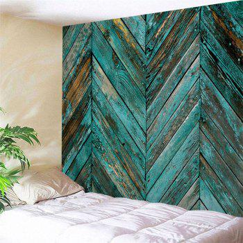 Retro Wooden Board Print Tapestry Wall Hanging Art