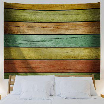 Wall Decoration Wood Flooring Print Tapestry - COLORFUL W59 INCH * L51 INCH