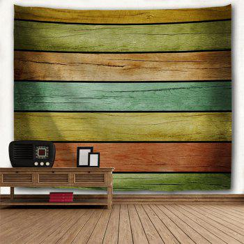 Wall Decoration Wood Flooring Print Tapestry - COLORFUL W91 INCH * L71 INCH