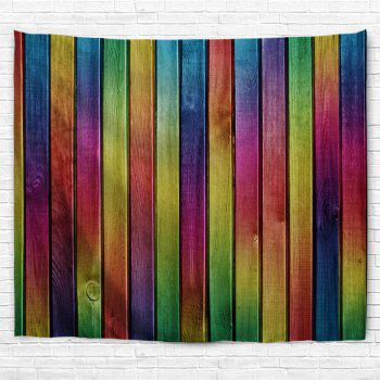 Wall Decoration Rainbow Woodgrain Pattern Tapestry - COLORFUL W59 INCH * L51 INCH