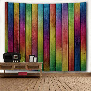 Wall Decoration Rainbow Woodgrain Pattern Tapestry - COLORFUL W59 INCH * L59 INCH