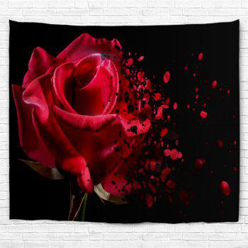 Wall Decoration Rose Flower Pattern Tapestry - COLORMIX W91 INCH * L71 INCH