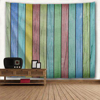 Colorful Wooden Board Print Tapestry Wall Hanging Art - COLORFUL W59 INCH * L51 INCH