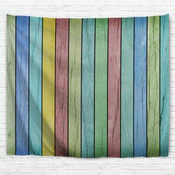 Colorful Wooden Board Print Tapestry Wall Hanging Art - COLORFUL W91 INCH * L71 INCH