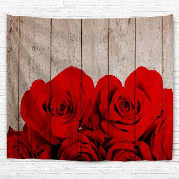 Waterproof Rose Plank Print Wall Hanging Tapestry - COLORMIX W59 INCH * L51 INCH