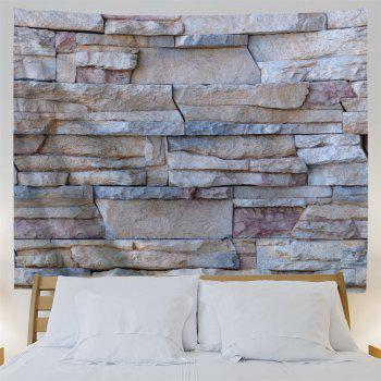 Wall Decoration Stone Brick Wall Pcattern Tapestry - GRAY W79 INCH * L71 INCH