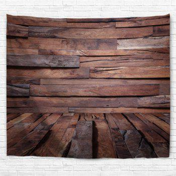 Irregular Wood Board Printed Wall Art Decor Hanging Tapestry - BROWN W79 INCH * L59 INCH
