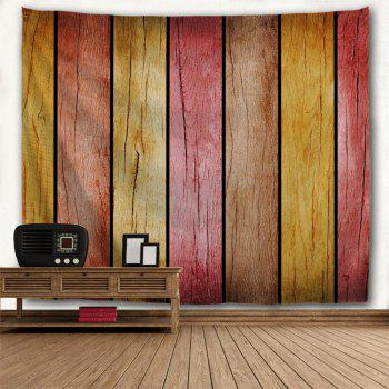 Rainbow Wood Board Printed Wall Decor Hanging Tapestry - COLORMIX W79 INCH * L71 INCH