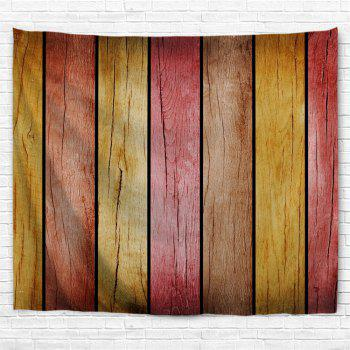 Rainbow Wood Board Printed Wall Decor Hanging Tapestry - COLORMIX W91 INCH * L71 INCH