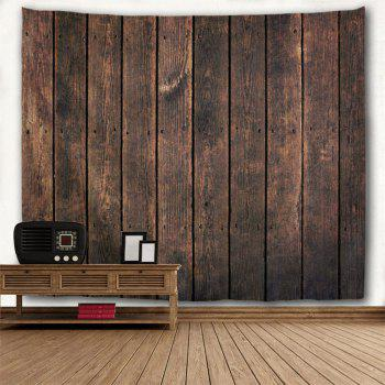 Retro Wood Board Printed Wall Hanging Tapestry - DUN W79 INCH * L59 INCH