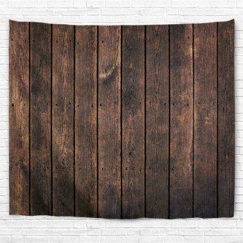 Retro Wood Board Printed Wall Hanging Tapestry - DUN W79 INCH * L71 INCH