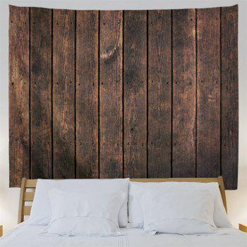Retro Wood Board Printed Wall Hanging Tapestry - DUN W91 INCH * L71 INCH