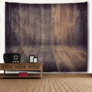 Wall Art Homespun Wood Board Printed Hanging Tapestry - DUN W59 INCH * L59 INCH
