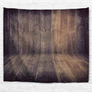 Wall Art Homespun Wood Board Printed Hanging Tapestry - DUN W79 INCH * L71 INCH