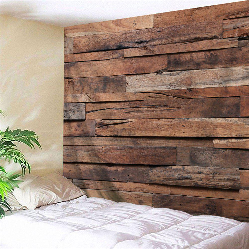 Wood Plank Printed Bedroom Decor Tapestry - WOOD COLOR W59 INCH * L59 INCH
