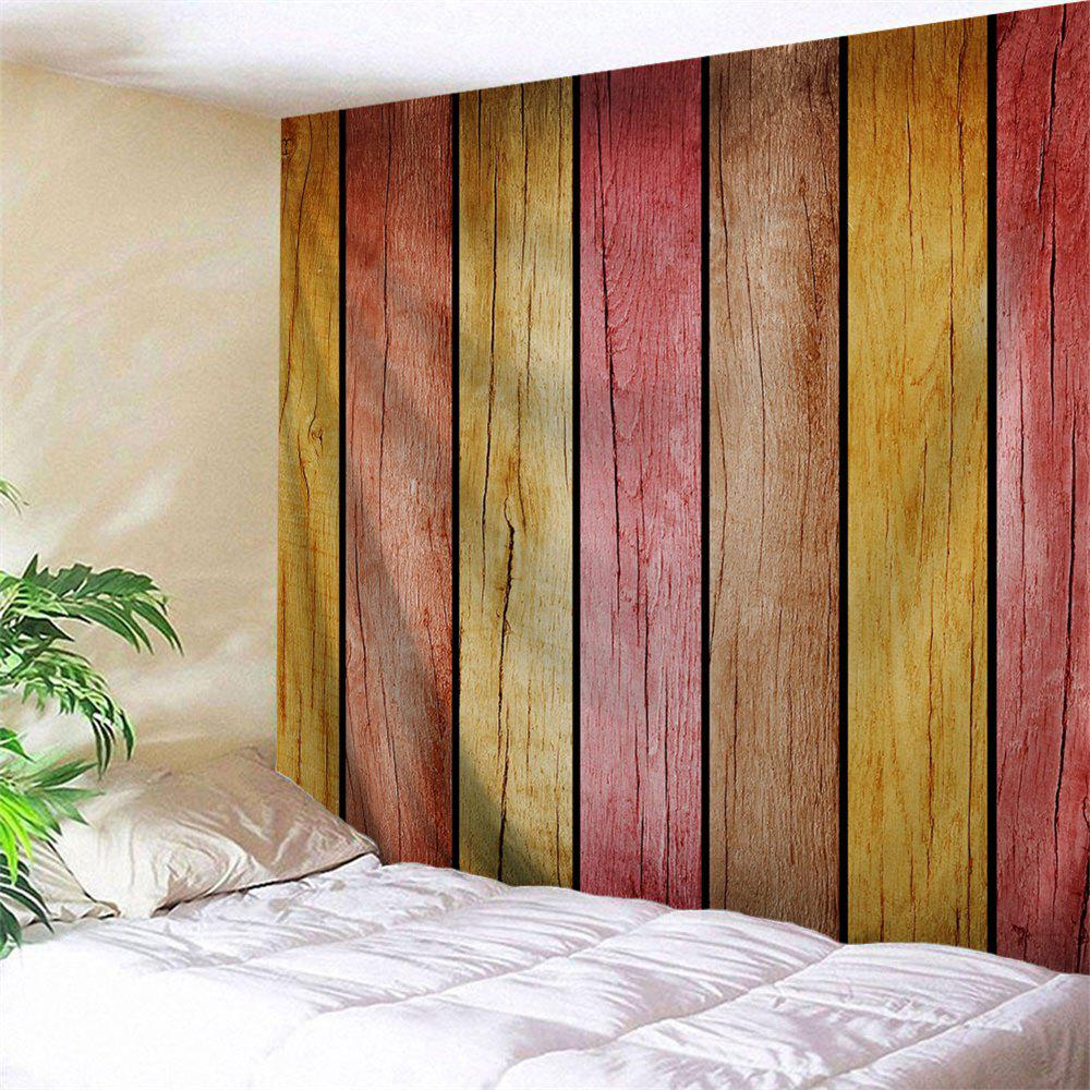 Rainbow Wood Board Imprimé Wall Decor Tapisserie suspendue - multicolorcolore W79 INCH * L59 INCH