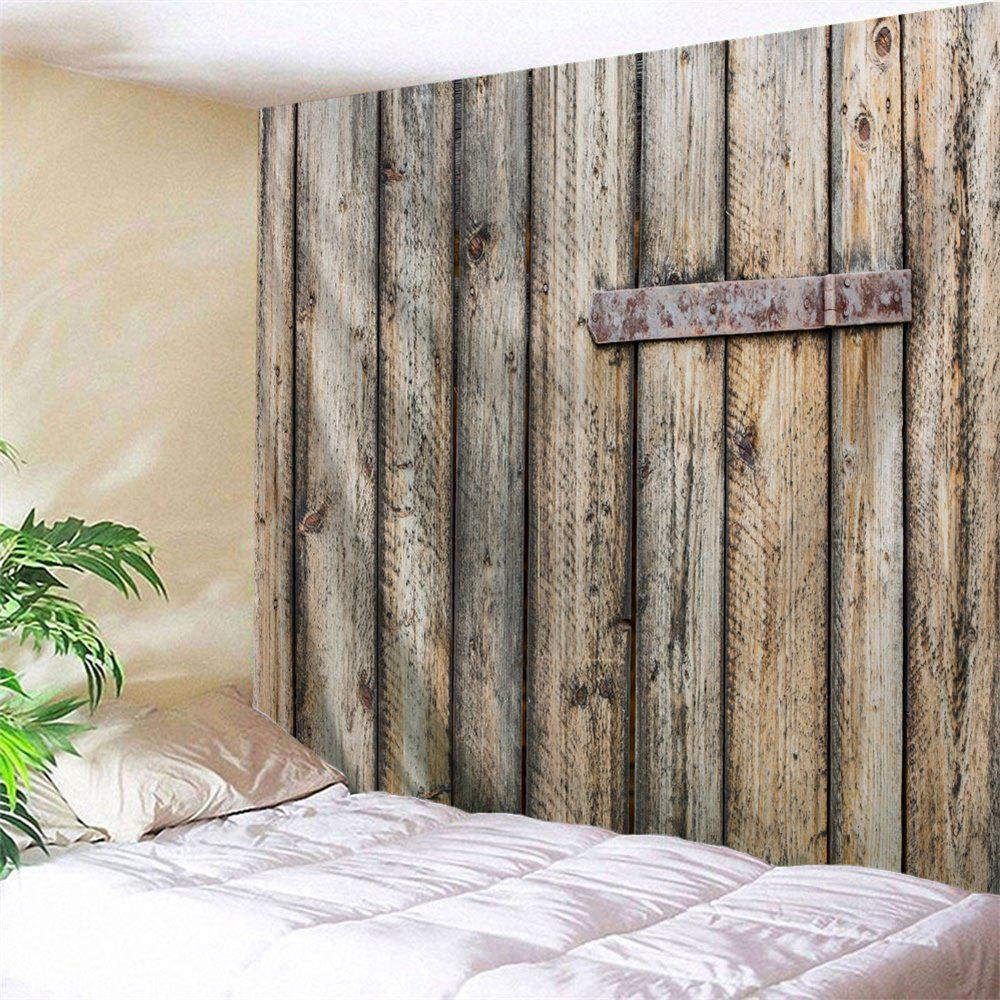 Shabby Wood Grain Door Printed Wall Art Decor Hanging Tapestry цена 2017