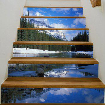 Décalques d'escaliers Snowberg Forest Stream - Bleu 100*18CM*6PCS