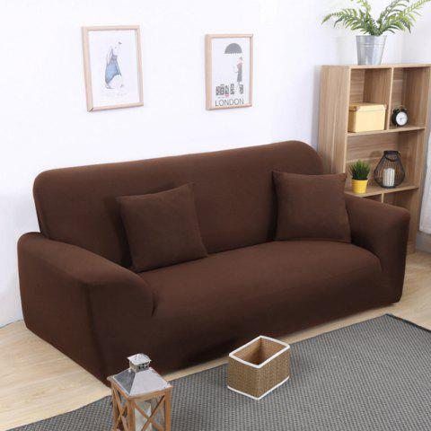 Practical Tight Package All-inclusive Cloth Sofa Cover - BROWN