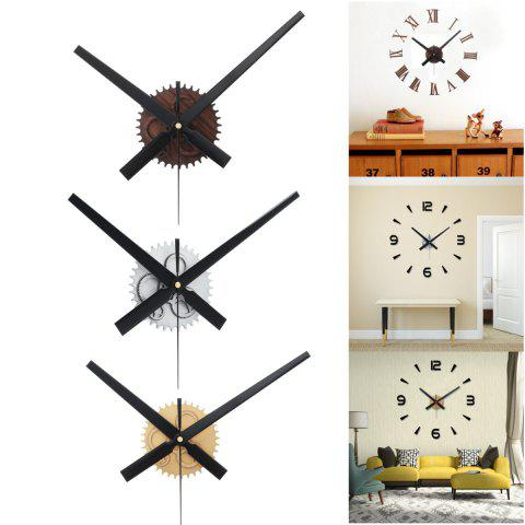 Vintage DIY Gear Mechanism Wall Clock Movement for Home Decoration - SILVER