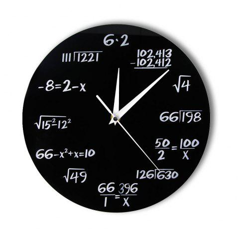 Science Quiz Math Formula Number Digital Wall Clock