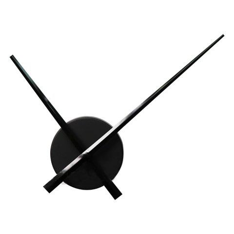 Large DIY Gear Mechanism Wall Clock Movement Set for Home Decoration - BLACK