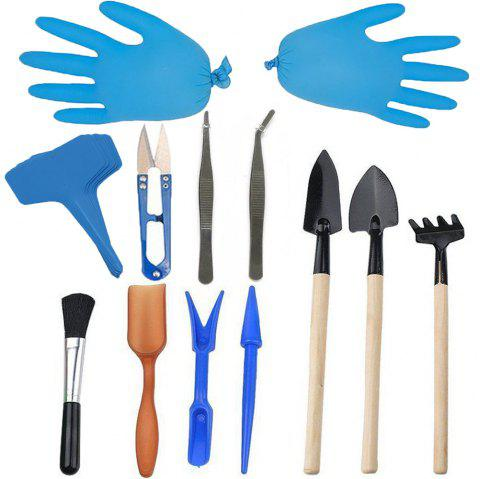 Gardening Tool Combination Set for Succulent Potted Plant - BLUE