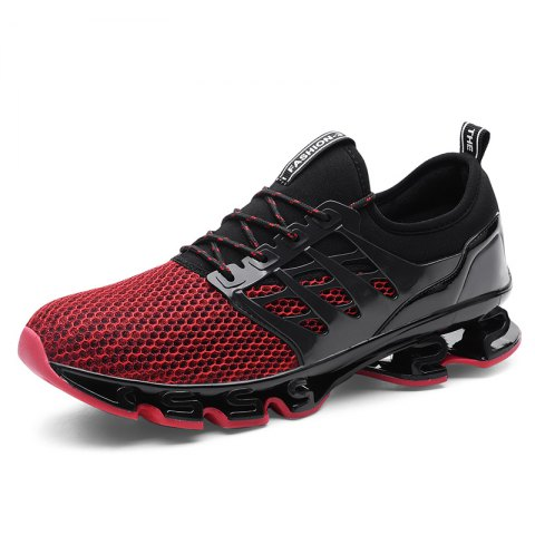 Breathable Lace-up Sports Shoes for Men - CHESTNUT RED 40