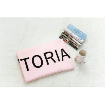 Personalized Letter Microfiber Beach Towel - PINK