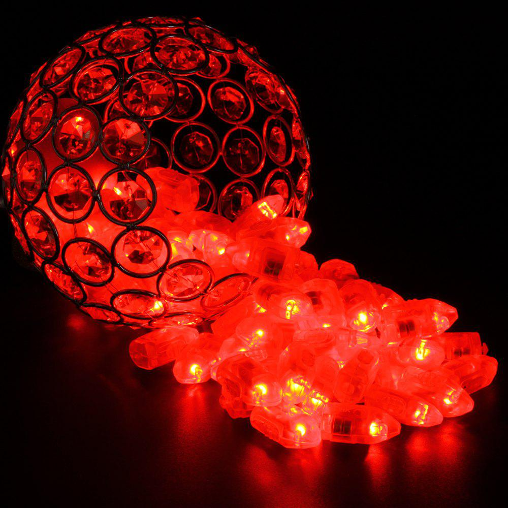 Small Light LED Bullet Balloon Decorative Bulb Lamp 50pcs - RED