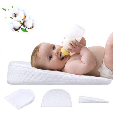 XML - 013 Slope Baby Pillow Washable Memory Foam Cotton Cushion - WHITE