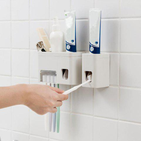 Punch-free Wall Hanging Bathroom Holder Toothpaste Squeeze Rack - PLATINUM