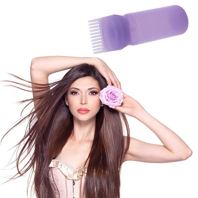 Image of 120ml Hair Dye Bottle Applicator with Graduated Brush Comb