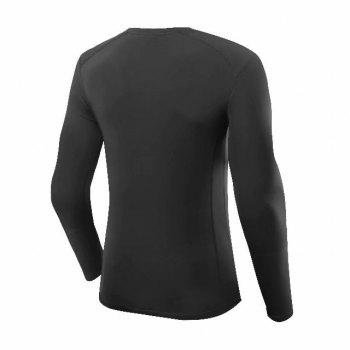 Compression T-Shirt Men Tight Jersey Fitness Sport Suit Gym Blouse Running Shirt Black Bodybuilding Sportswear Lshen503 - BLACK S