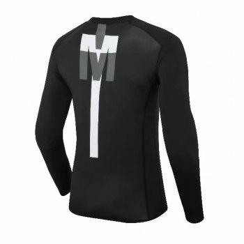 Compression T-Shirt Men Tight Jersey Fitness Sport Suit Gym Blouse Running Shirt Black Bodybuilding Sportswear Lshen  502 - BLACK XL