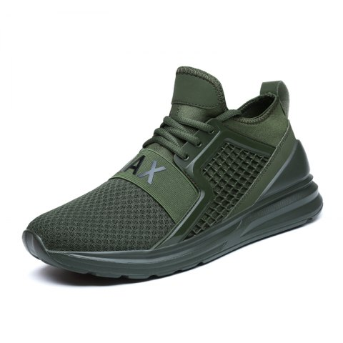 Ventilate Mesh Cloth Solid Color Sneakers - ARMY GREEN 39