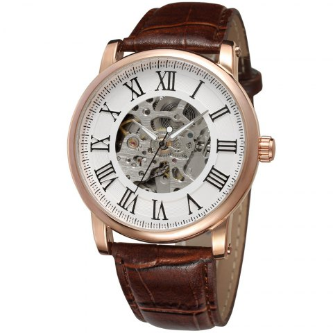 Forsining Automatic Mechanical Luminous Watch - WHITE